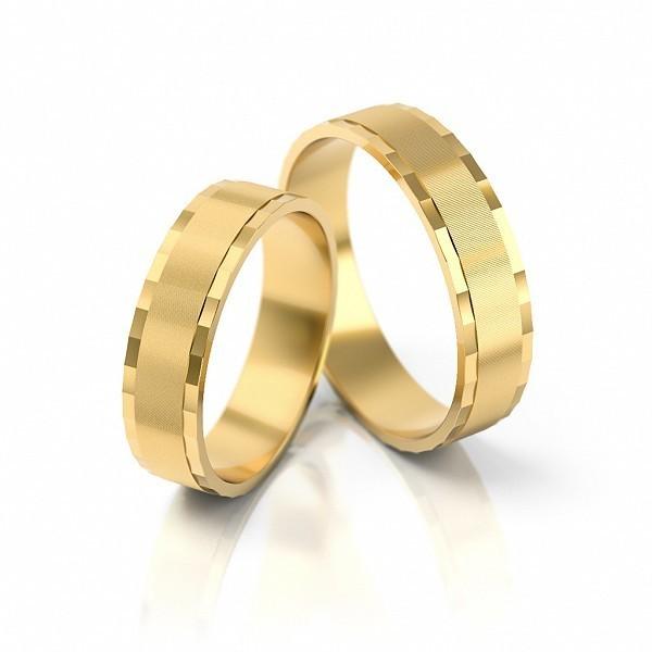 1 Paar Trauringe Hochzeitsringe Gold 333 Breite 5 0 Mm Starke