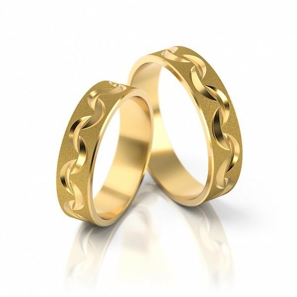 1 Paar Trauringe Hochzeitsringe Gold 750 Breite 5 0 Mm Starke