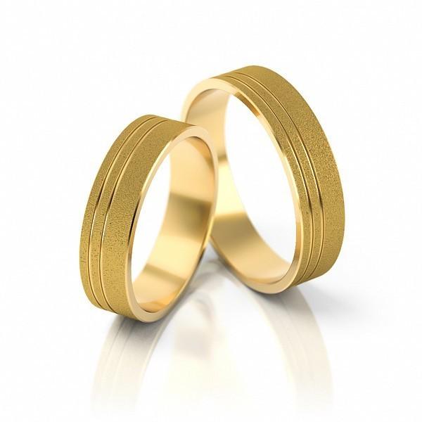 1 Paar Trauringe Hochzeitsringe Gold 585 Breite Damenring 4 Mm
