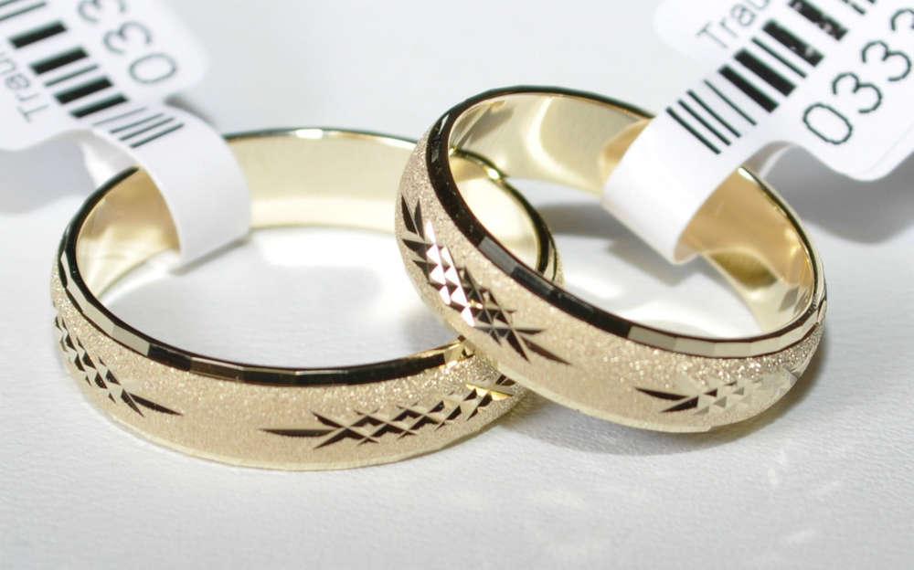1 Paar Trauringe Hochzeitsringe Gold 585 Breite 5 0 Mm Starke