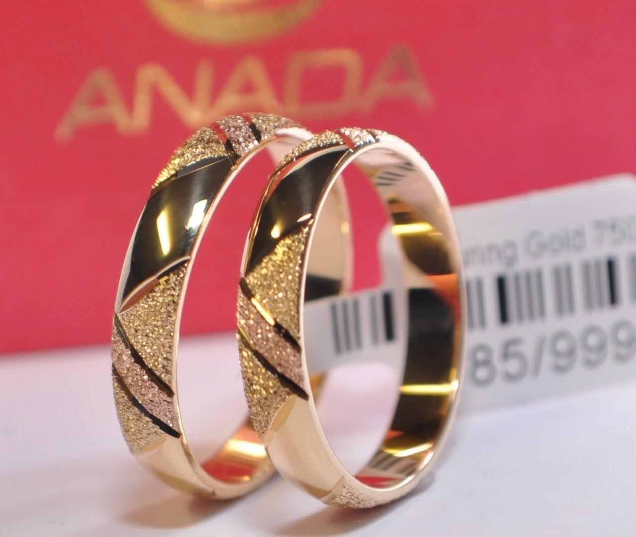 1 Paar Trauringe Eheringe Hochzeitsringe Gold 585 Breite 4mm Höhe 125mm Top