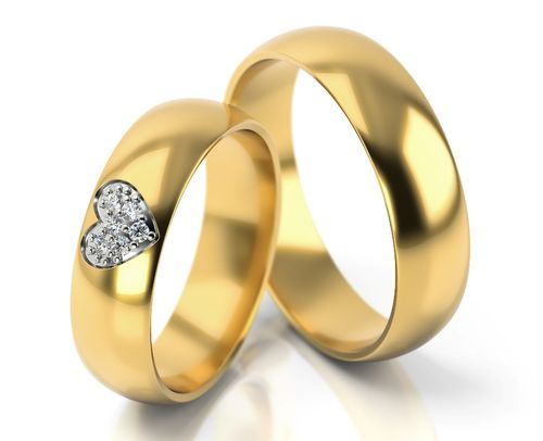 1 Paar Gold 585 Trauringe Eheringe Hochzeitsringe Mit Blitzendem