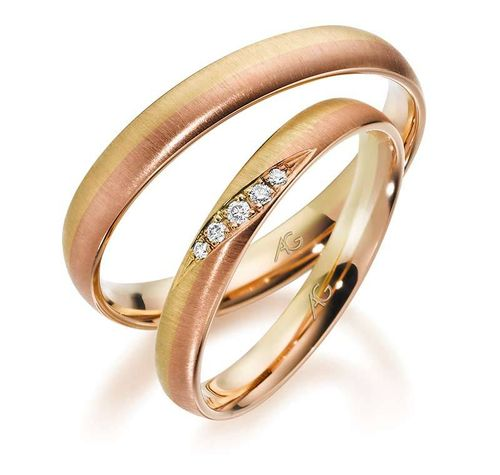 Trauringe - Gerstner - 28731 - Kollektion Exclusiv - Gold 375, 585, 750 - Bicolor + Brill.0,036ct