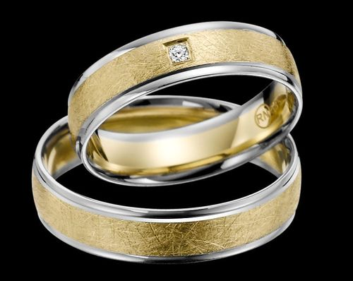 Trauringe - Rubin - EC 84 - R144 - Gold 375, 585 oder 750 - mit Brillant 0,02ct IF-R