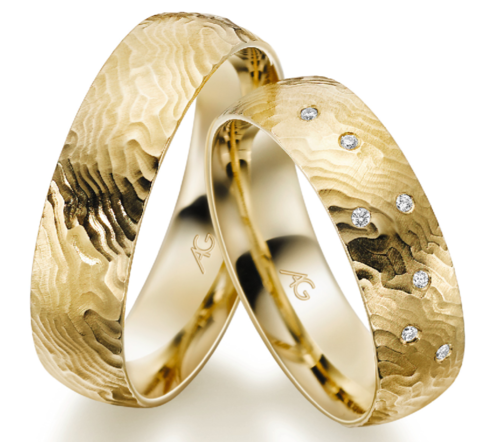 Trauringe - Gerstner - 28682 - Gold 333, 375, 585, 750 mit 7 Diamanten 0,035ct