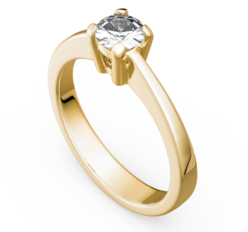 Antragsring - Verlobungsring - Gold 585 Gelbgold Brillant 0,75ct TW/SI - TOP