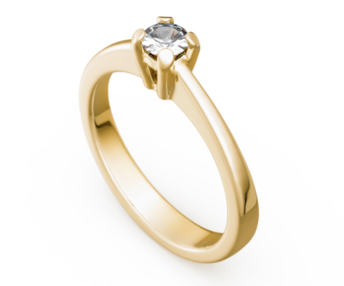 Antragsring - Verlobungsring - Gold 585 Gelbgold Brillant 0,17ct TW/SI - TOP