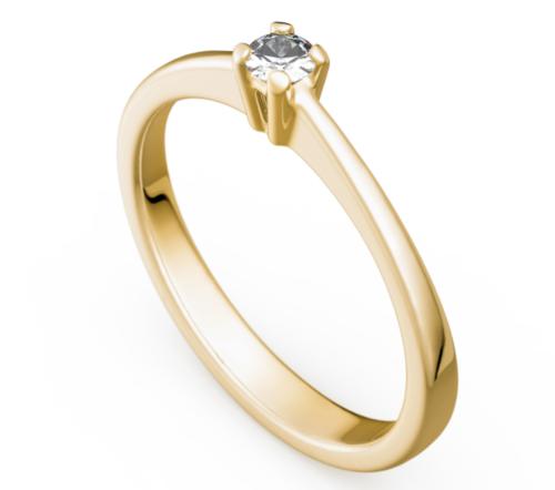 Antragsring - Verlobungsring - Gold 585 Gelbgold Brillant 0,12ct TW/SI - TOP