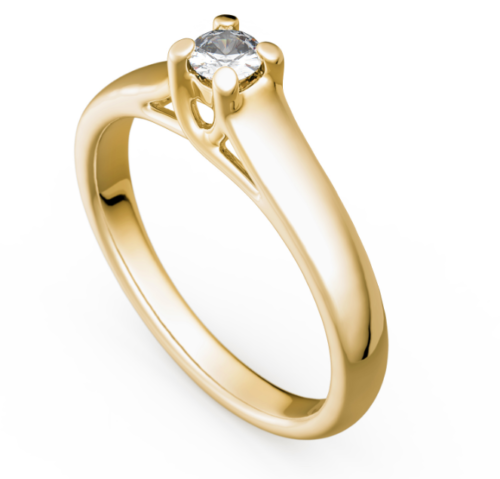 Antragsring - Verlobungsring - Gold 585 Gelbgold Brillant 0,15ct TW/SI - TOP