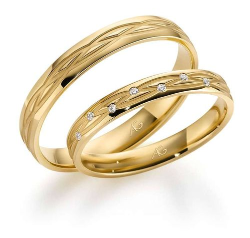 Trauringe - Gerstner - 28704 - Gold 333, 375, 585, 750 mit 7 Brillanten 0,035ct